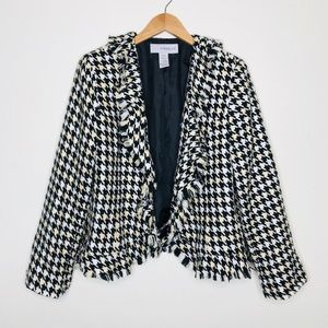 Sag Harbor Houndstooth Jacket Size 14